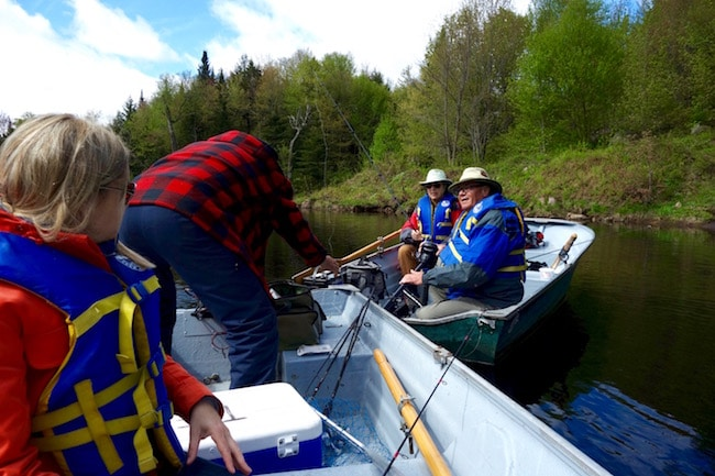 Fishing line caught in motor