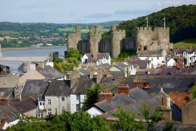 Castle Conwy seen from the Wall Walk