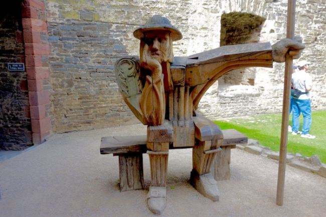 The Guard by John Merrill at Conwy Castle