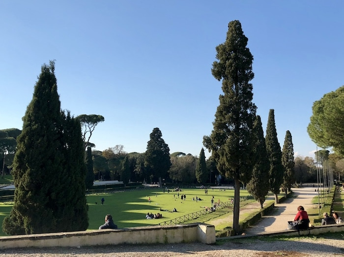 Things to do in Rome visit Borghese Gardens