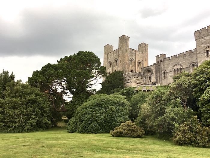 Outside view of Penrhyn Castle in North Wales
