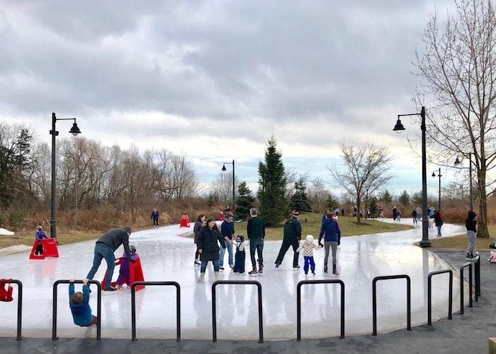 Things to do in Toronto winter, go skating at Humber