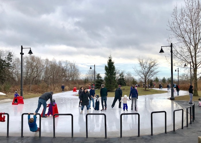 Things to do in Toronto winter, go skating at Humber