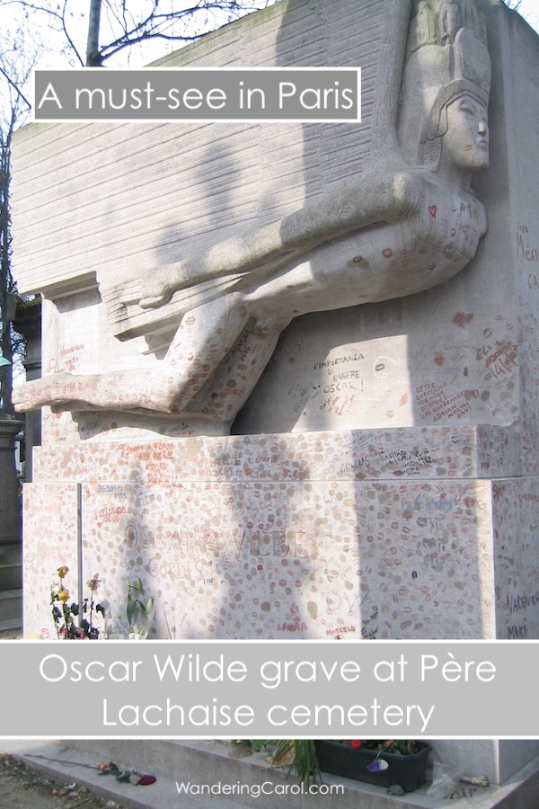 Oscar Wilde tomb at Pere Lachaise Cemetery in Paris