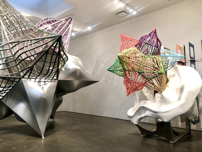 One of the best things to do in Chelsea is look at the art. This is the Frank Stella show,