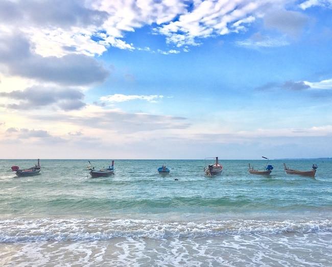 Beautiful boat scene in Phuket