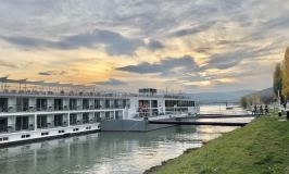 Viking River Cruise Danube ship on the river