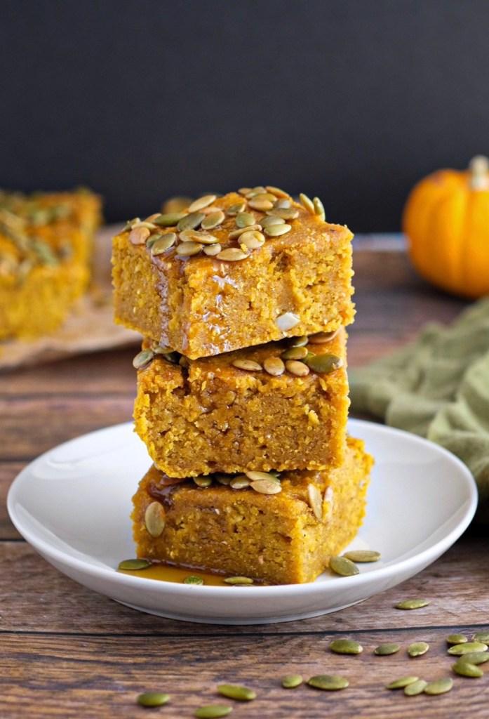 Easy vegan pumpkin maple syrup cornbread recipe