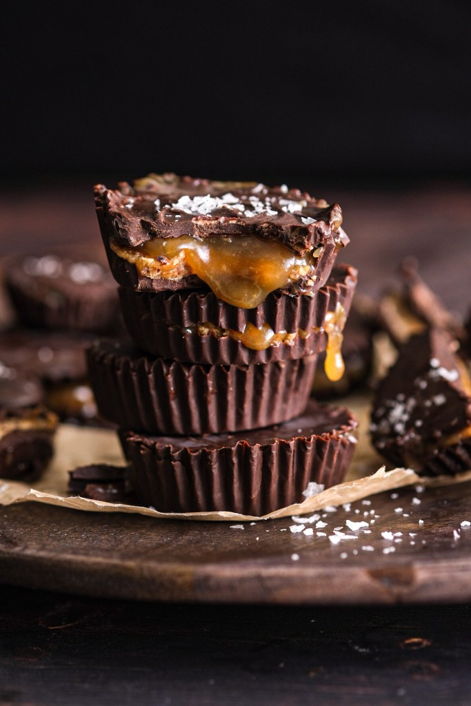 Dark Chocolate Miso Caramel Cups