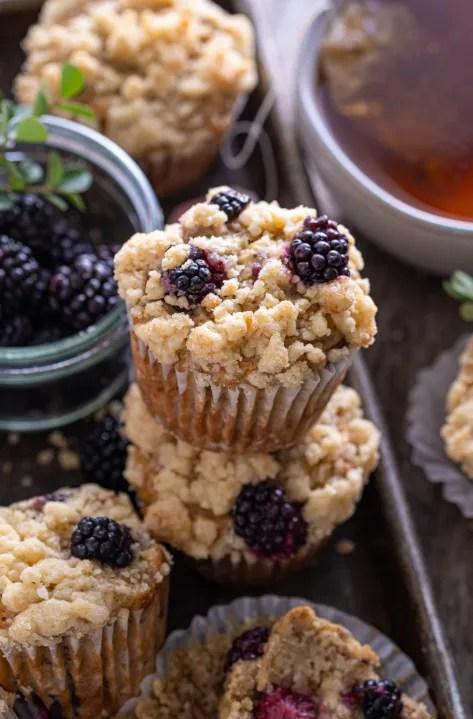 Vegan blackberry banana muffin recipe