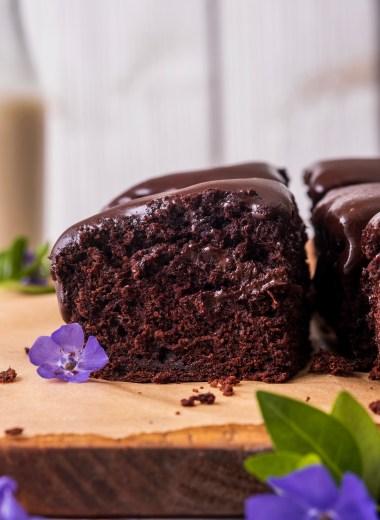 vegan chocolate zucchini snack cake