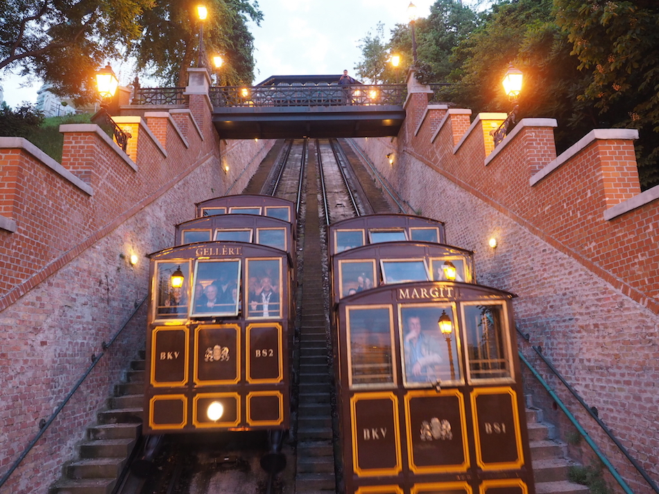 funicular train in Budapest Hungary