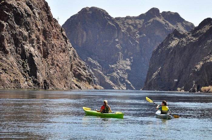 Kayaking outdoor thing to do near Las Vegas