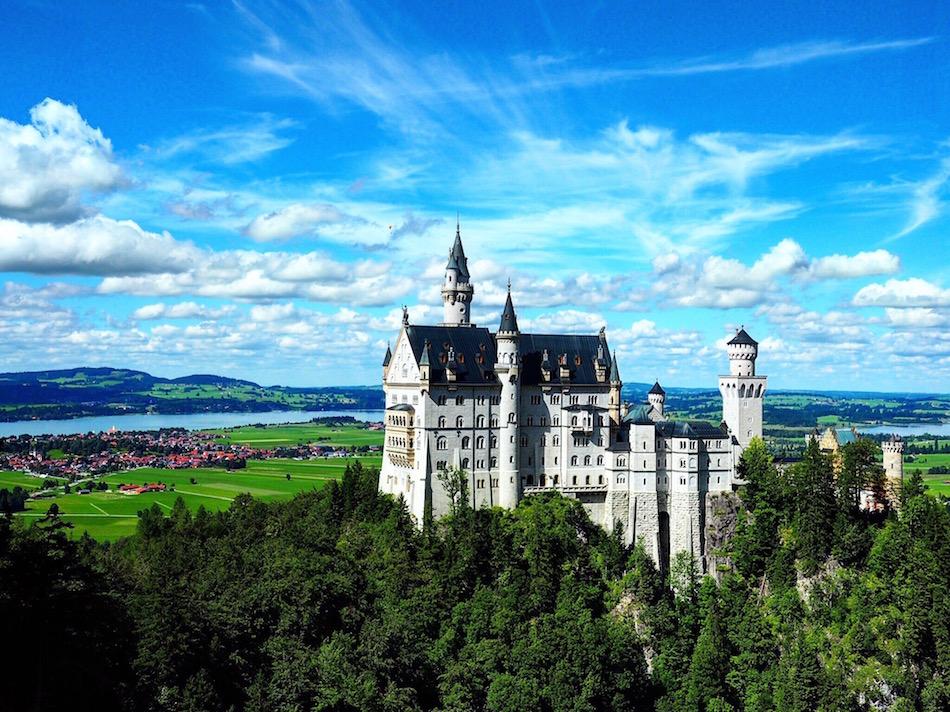 Schloss Neuschwanstein Castle Disney Bavaria, Germany Wandering Chocobo