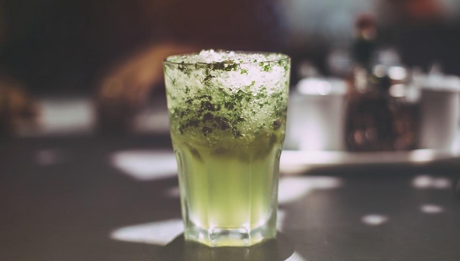 Munich's best cocktail bars. Green cocktail