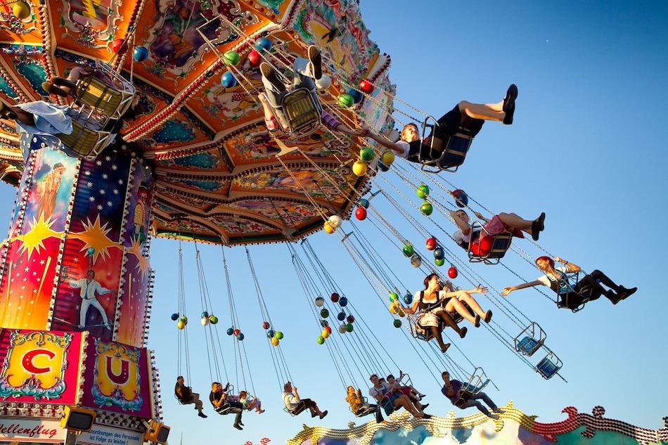 carnival swing ride at Oktoberfest