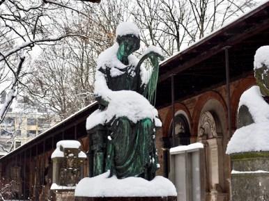 Munich, Germany Graveyard in Winter