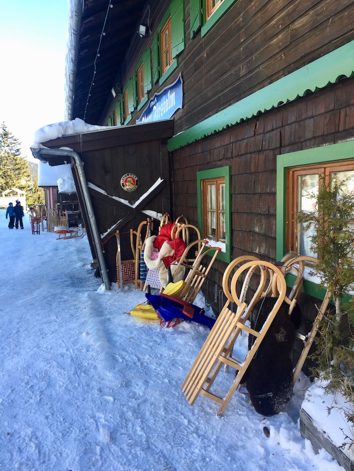 Things to do in Munich in the Winter. Sledding in Spitzingee near Munich in the German Alps