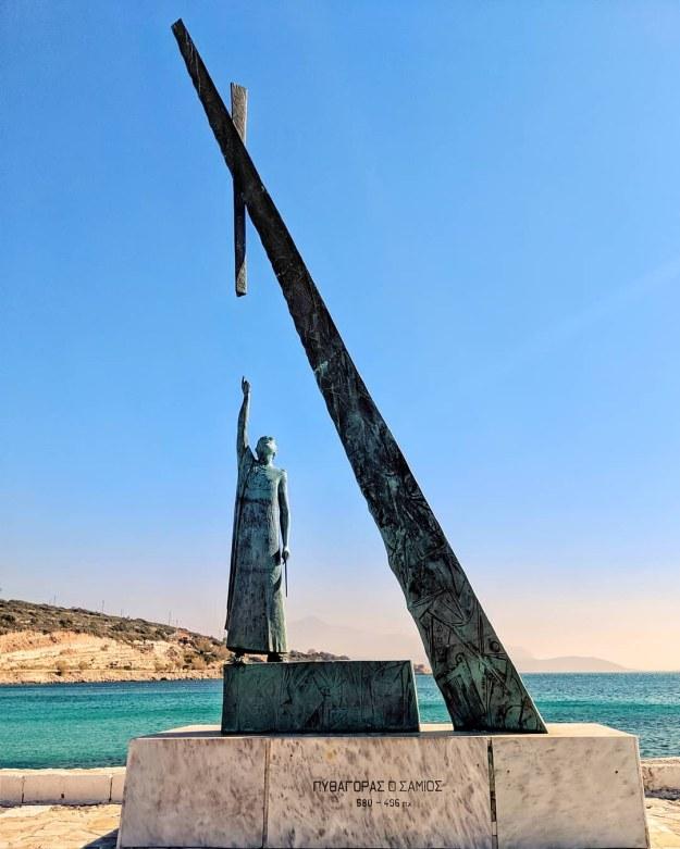 Pythagaorio, Samos, Greece. Pythagorean theorem.