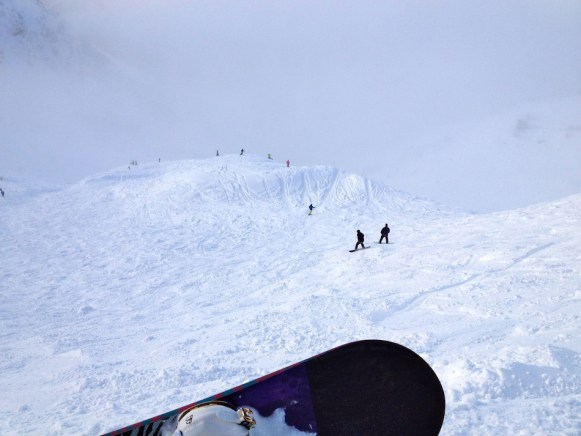 Alyeska snowboarding
