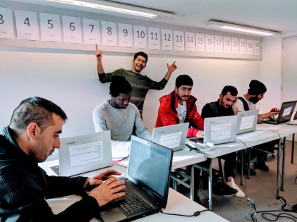 Samos Volunteers Computer Class Refugee Camp