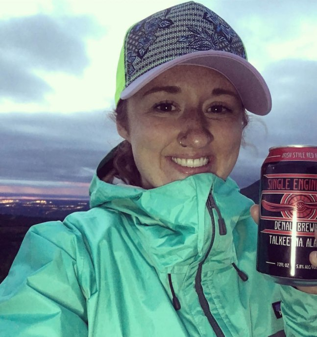 Drinking Alaskan Beer at midnight on Summer Solstice on top of a mountain.