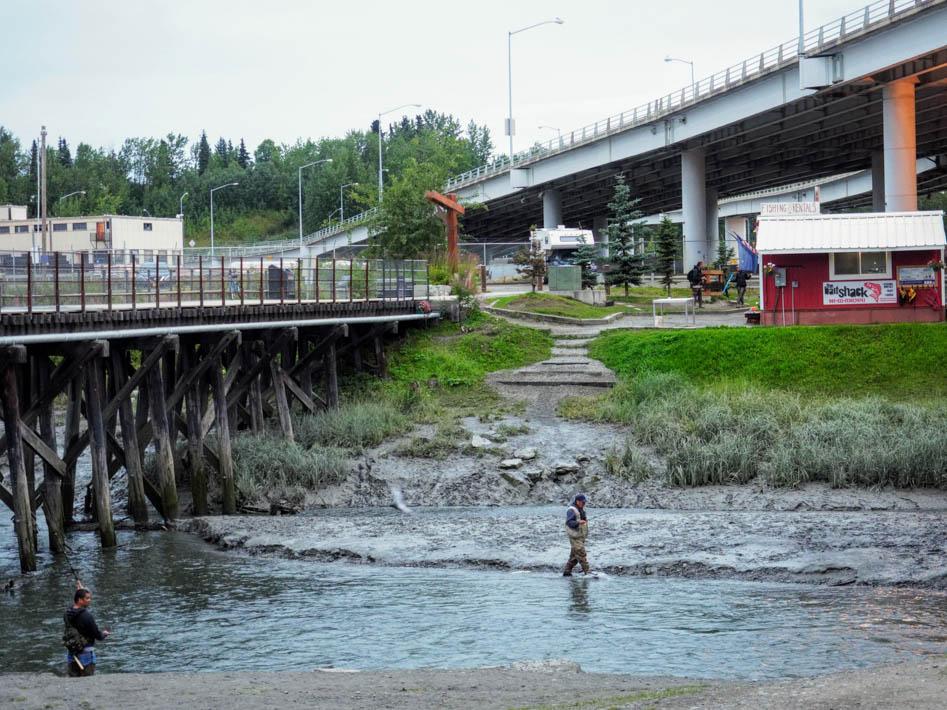 Fishing in Ship Creek Anchorage Alaska