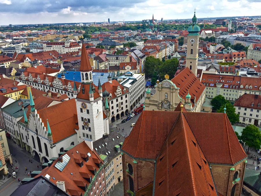 Summer birds eye view in Munich