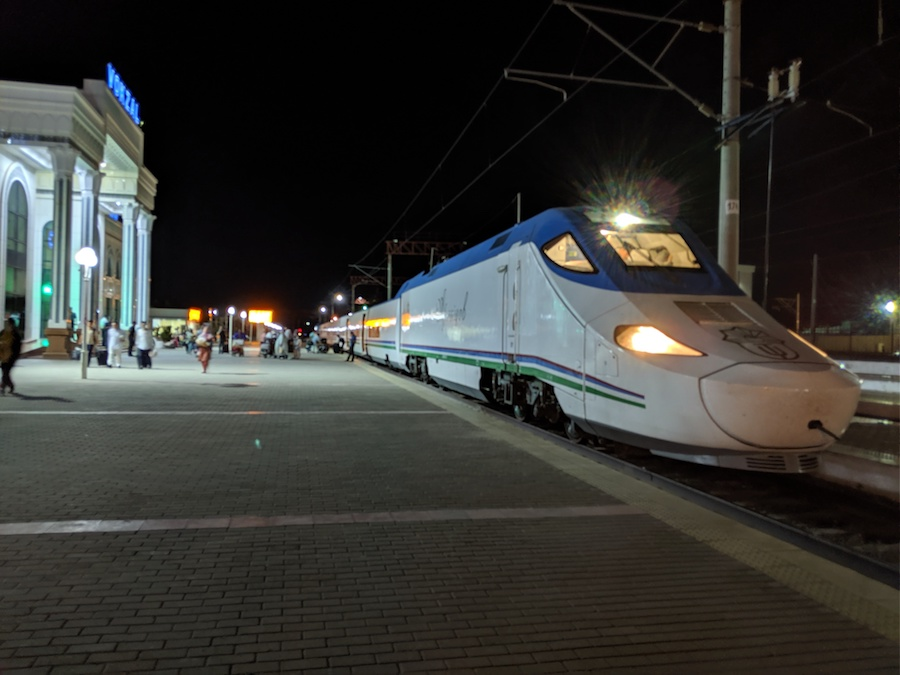 Uzbekistan train travel