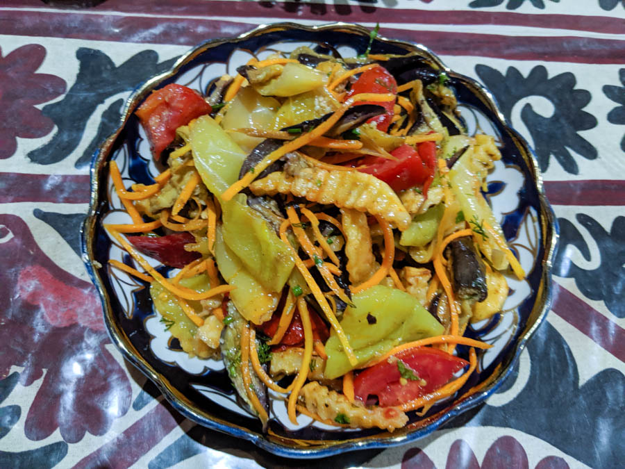 vegetarian food in Samarkand Uzbekistan