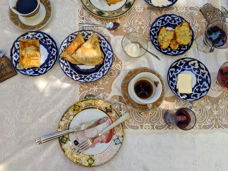vegetarian food Samarkand Uzbekistan