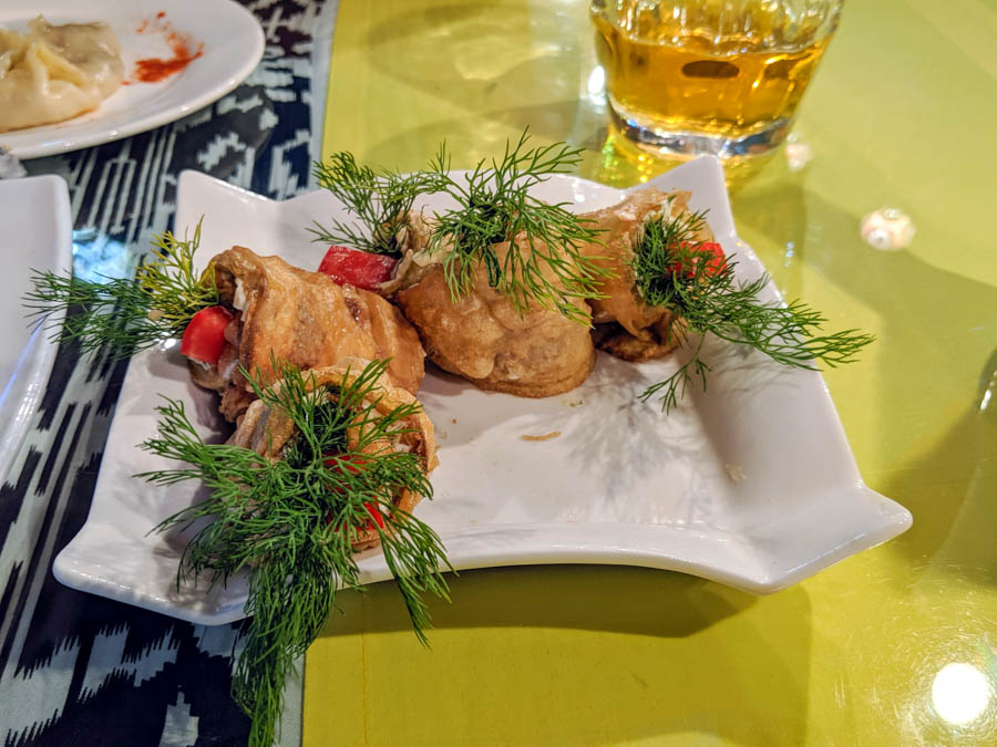 vegetarian food bukhara uzbekistan central asia