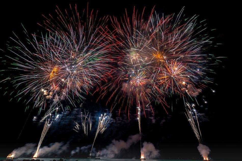 fireworks Munich NYE
