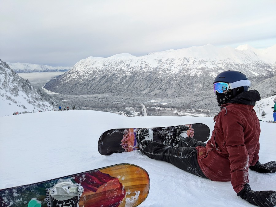 snowboarding alyeska winter in alaska
