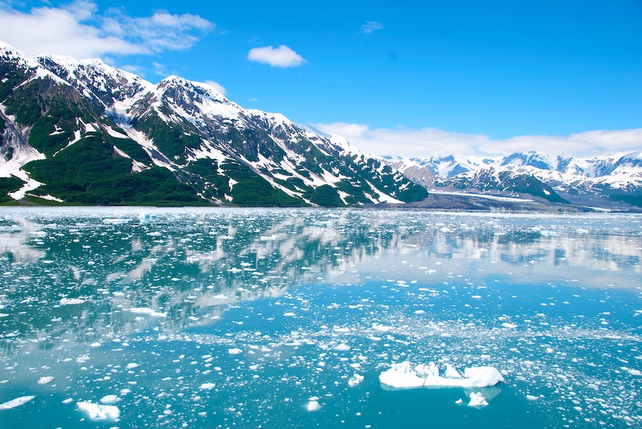 Travel Alaska without a cruise glacier water