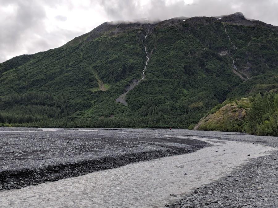 exit glacier outwash plains