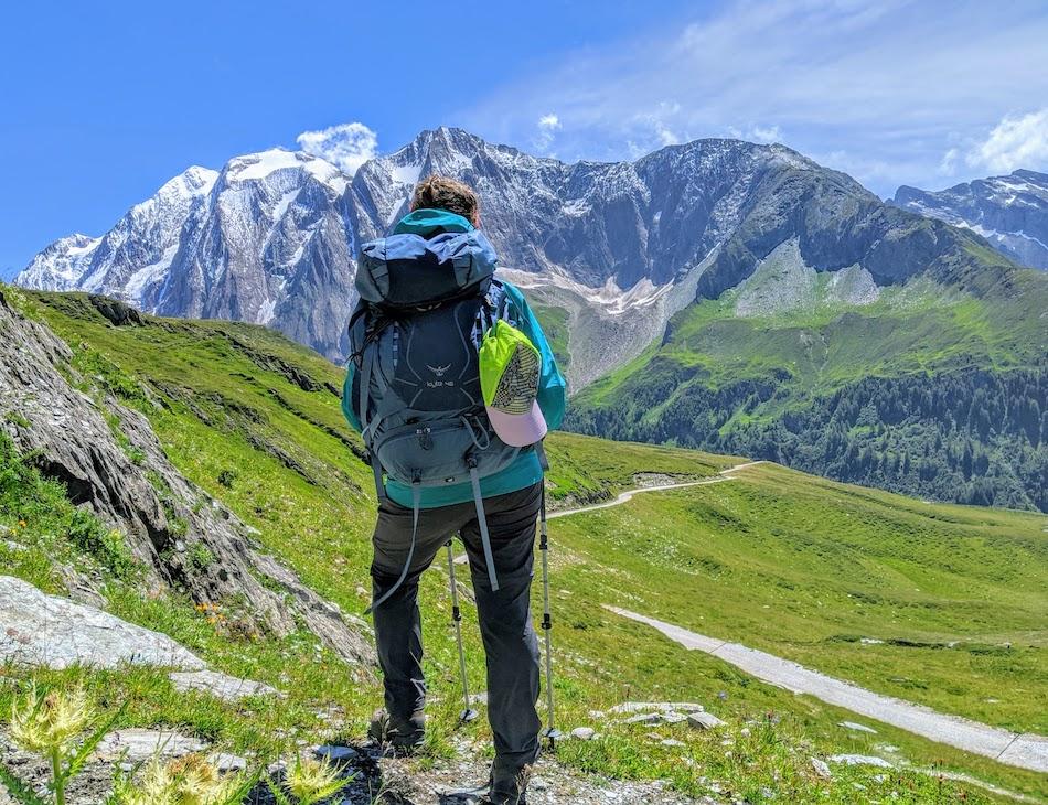 Susanna Kelly Shankar hiking the Trans Alp