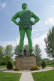 Beth and Blondie with the Green Giant