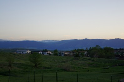 View of Bighorn Mountains from Peter D's RV Park in Sheridan, WY
