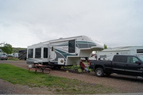 Our home for 3 nights at Dick's RV Park in Great Falls, MT