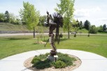 Statue honoring Native Americans at the Visitor's Center