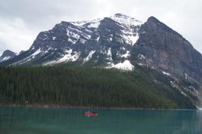 These paddlers were enjoying Lake Louise