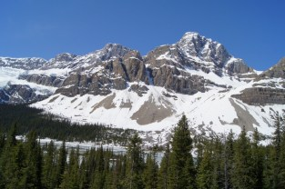 Our first stop on the Icefields Parkway was at the Crowfoot Glacier