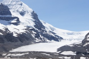 View of the Columbia Icefields from the parking lot across the street