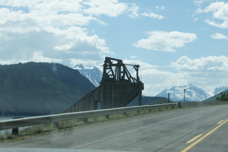 An old mine on the way to Skagway