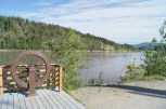 On the banks of the Yukon River