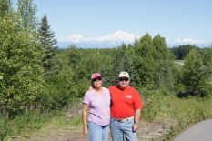 Beth and Henry at the Talkeetna overlook