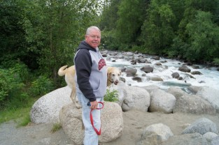 Henry and Blondie at the Little Susitna River