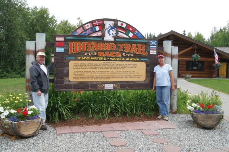 At the Iditarod Trail Headquarters in Wasilla, Alaska