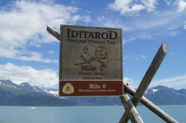 The Iditarod Trail starts in Seward